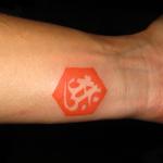 六角形|梵字の刺青
