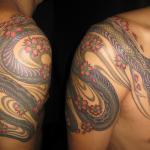 蛇|桜の刺青