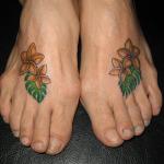 プルメリアのタトゥー