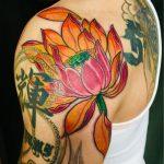 タッチアップタトゥー  蓮の花