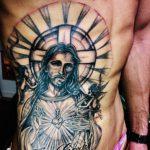 キリストと天使の洋彫り