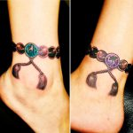 数珠と梵字の刺青